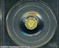 California Fractional Gold: , 1854 Liberty Octagonal 50 Cents, BG-306, R.4, MS64 PCGS. ...