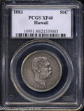 Coins of Hawaii: , 1883 Hawaii Half Dollar XF40 PCGS. ...