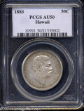 Coins of Hawaii: , 1883 Hawaii Half Dollar AU50 PCGS. ...