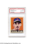 Baseball Cards:Singles (1940-1949), Baseball 1948 LEAF WARREN SPAHN #32 EX/MT PSA 6. Rookie ...