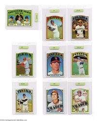 Baseball 1972 Topps Baseball Set (787ct.) EX/MT Appraised. The largest Topps issue of its time appeared in 1972, with th...
