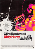 """Movie Posters:Crime, Dirty Harry (Warner Bros., 1971). Fine+ on Linen. German A1 (23.5"""" X 33""""). Crime.. ..."""