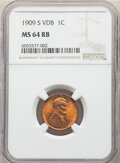 1909-S 1C VDB MS64 Red and Brown NGC. A small planchet lamination is seen on the obverse rim at 5 o'clock. NGC Census: (...