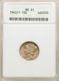 1942/1 10C MS61 ANACS. Mintage 205,432,329. From The Gibney Family Collection. ...(PCGS# 5036)