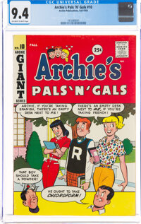 Archie's Pals 'n' Gals #10 (Archie, 1959) CGC NM 9.4 Off-white to white pages