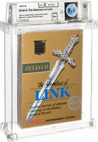 Zelda II: The Adventure of Link - Wata 9.6 A+ Sealed [Rev-A, Round SOQ, Early Production], NES Nintendo 1988 USA
