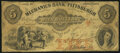 Obsoletes By State:Pennsylvania, Pittsburgh, PA- Mechanics Bank of Pittsburgh $5 July 1, 1856 G6a Very Good.. ...