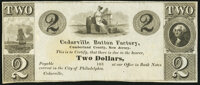 Cedarville, NJ- Cedarville Button Company $2 183_ Remainder W.390 Crisp Uncirculated