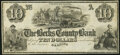 Obsoletes By State:Pennsylvania, Reading, PA- Berks County Bank $10 18__ Remainder Choice About Uncirculated.. ...