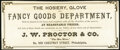 Obsoletes By State:Pennsylvania, Philadelphia, PA- J.W. Proctor & Co. / J.G. Maxwell Dual-sided Advertising Note Choice Crisp Uncirculated.. ...
