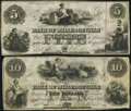 Obsoletes By State:Georgia, Milledgeville, GA- Bank of Milledgeville $5; $10 May 1,1854 Fine.. ... (Total: 2 notes)