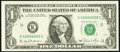 Fancy Serial Number 40006000 Fr. 1911-K $1 1981 Federal Reserve Note. Very Choice Crisp Uncirculated