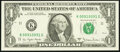 Fancy Serial Number Fr. 1910-K $1 1977A Federal Reserve Note. Very Choice Crisp Uncirculated