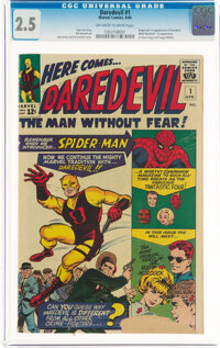 Daredevil #1 (Marvel, 1964) CGC GD+ 2.5 Off-white to white pages