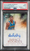 Basketball Cards:Singles (1980-Now), 2012 Panini Intrigue Impact Rookies Anthony Davis (Autograph Gold) #62 PSA Mint 9....