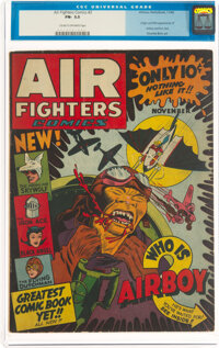 Air Fighters Comics #2 (Hillman Fall, 1942) CGC FN- 5.5 Cream to off-white pages