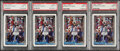 Basketball Cards:Lots, 1992 Topps Shaquille O'Neal PSA Mint 9 Graded Quartet (4).... (Total: 4 items)