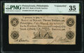 Obsoletes By State:Pennsylvania, Philadelphia, PA- Bank of North America Counterfeit $20 Mar. 6, 1809 C218 Hoober 305-62 PMG Choice Very Fine 35.. ...