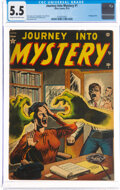 Golden Age (1938-1955):Horror, Journey Into Mystery #1 (Marvel, 1952) CGC FN- 5.5 Cream to off-white pages....
