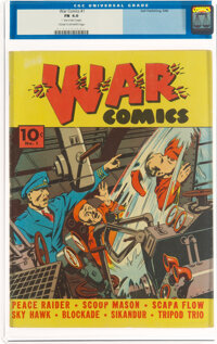 War Comics #1 (Dell, 1940) CGC FN 6.0 Cream to off-white pages