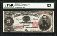 Fr. 357 $2 1891 Treasury Note PMG Choice Uncirculated 63