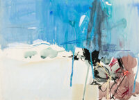 Paul Wonner (1920-2008) Untitled, 1955-1956 Gouache on paper 18 x 23-1/4 inches (45.7 x 59.1 cm) Signed on the lower