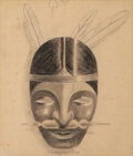 Works on Paper, Victor Vasarely (1906-1997). Advertising Project for Bio Choline, 1936. Pencil on wove paper. 6-1/2 x 5-3/4 inches (16.5...