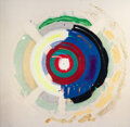 Paintings, Kenneth Noland (1924-2010). Untitled, 1995. Acrylic on offset lithograph. 22 x 18-1/2 inches (55.9 x 47 cm). Signed, dat...