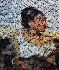 Vik Muniz (Brazilian, 1961) Orphan Girl at the Cemetery, after Delacroix (from Gordian Puzzles series)