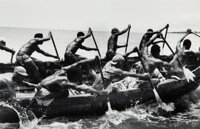 Alfred Eisenstaedt (American, 1898-1995) Tribesman paddling cargo of cocoa from beaches to ships, Accra, Ghana, 1953 G...