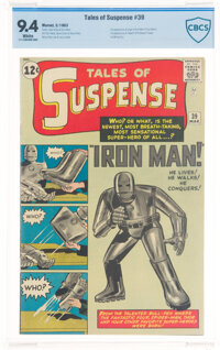 Tales of Suspense #39 (Marvel, 1963) CBCS NM 9.4 White pages