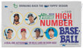 Baseball Cards:Unopened Packs/Display Boxes, 2018 Topps Heritage High Number Series Baseball Unopened Hobby Box With 24 Packs. ...