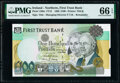 World Currency, Northern Ireland First Trust Bank 100 Pounds 1.1.1998 Pick 139br Remainder and Printer Remnant PMG Gem Uncirculated 66 EPQ... (Total: 2 notes)