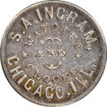 1863 S.A. Ingram Watches Civil War Store Card, Chicago, Illinois, Fuld-150AG-2f, R.9, MS63 NGC. Ex: Donald G. Partrick C...