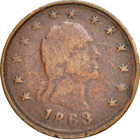 1863 Union for Ever Civil War Token, Fuld-107/271 a, R.9 -- Environmental Damage -- NGC Details. VF. Ex: Donald G. Partr...
