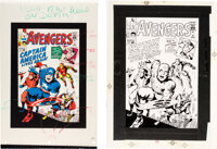 Avengers #4 Cover Production Materials Group of 3 (Marvel, 1964).... (Total: 3 Items)