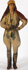 """Movie Posters:Miscellaneous, Rudolph Valentino in The Shiek (c.1921). Fine-. Standee (28"""" X 71""""). Miscellaneous.. ..."""