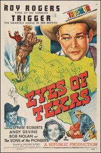"Eyes of Texas (Republic, 1948). Fine+ on Linen. One Sheet (27"" X 41""). Western"