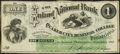 Obsoletes By State:Pennsylvania, Philadelphia, PA- (Inland National Bank of the) Quaker City Business College $1 Sep. 1868 Very Fine-Extremely Fine.. ...