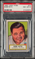 Baseball Cards:Singles (1950-1959), 1952 Topps Look 'N See Babe Ruth #15 PSA NM-MT 8. ...