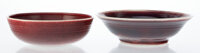 Brother Thomas Bezanson (American/Canadian, 1929-2007) Two Bowls Porcelain 3-1/2 x 11-5/8 inches (8.9 x 29.5 cm) (lar...