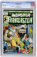 Bronze Age (1970-1979):Horror, Frankenstein #1 (Marvel, 1973) CGC VF/NM 9.0 White pages....