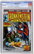 Bronze Age (1970-1979):Horror, Frankenstein #9 (Marvel, 1974) CGC NM 9.4 White pages....