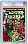 Bronze Age (1970-1979):Horror, Frankenstein #3 (Marvel, 1973) CGC NM- 9.2 White pages....