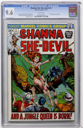 Bronze Age (1970-1979):Miscellaneous, Shanna the She-Devil #1 (Marvel, 1973) CGC NM+ 9.6 White pages....