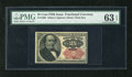Fractional Currency:Fifth Issue, Fr. 1309 25c Fifth Issue PMG Choice Uncirculated 63EPQ. This is avery well margined example for the grade which would be a ...