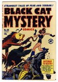 Golden Age (1938-1955):Horror, Black Cat Mystery #30 (Harvey, 1951) Condition: FN/VF....