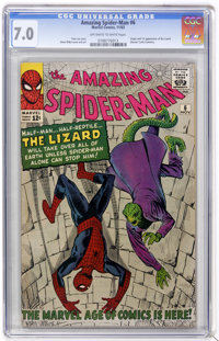 The Amazing Spider-Man #6 (Marvel, 1963) CGC FN/VF 7.0 Off-white to white pages