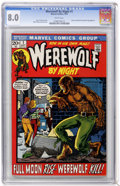 Bronze Age (1970-1979):Horror, Werewolf by Night #1 (Marvel, 1972) CGC VF 8.0 White pages....