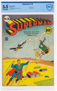 Superman #10 (DC, 1941) CBCS FN- 5.5 Off-white to white pages